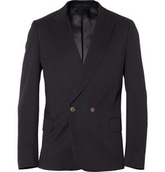 PS by Paul Smith Double-Breasted Cotton-Blend Piqué Blazer