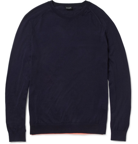 PS by Paul Smith Contrast-Hem Cotton-Blend Sweater