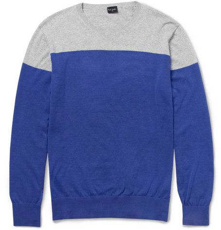 PS by Paul Smith Two-Tone Cotton Sweater
