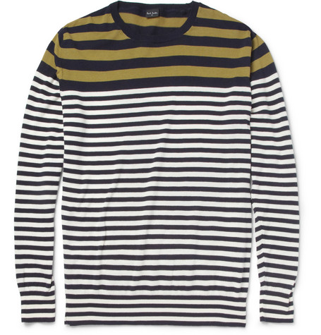 PS by Paul Smith Striped Cotton Crew Neck Sweater