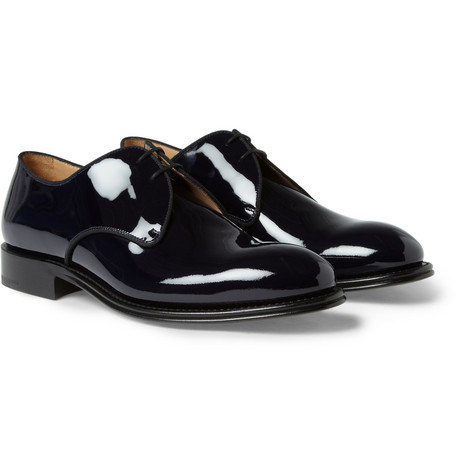 O'Keeffe Lonrach Patent-Leather Derby Shoes