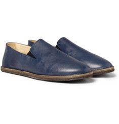 Armando Cabral Bula Leather Slip-On Shoes