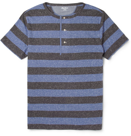 Red Ear Striped Henley T-Shirt