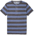 Red Ear - Striped Henley T-Shirt