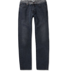 Red Ear Slim-Fit Washed-Denim Jeans