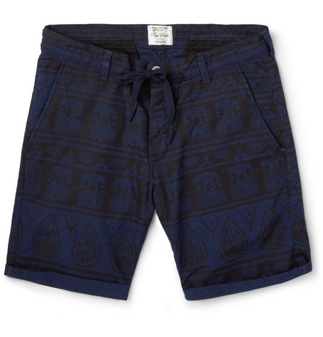 Red Ear Slim-Fit Printed Cotton Shorts
