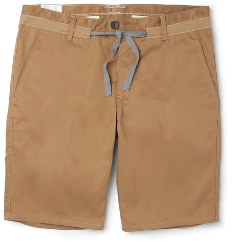 Red Ear Drawstring Cotton-Twill Shorts