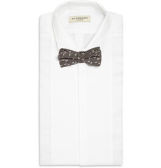 Marwood Wave Woven-Cotton and Silk-Blend Bow Tie