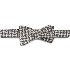 Marwood Houndstooth Silk Bow Tie