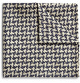 Marwood Houndstooth Silk Pocket Square