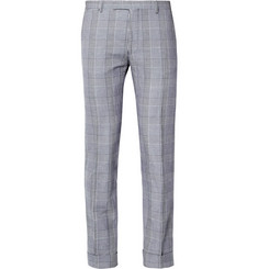 Gant Rugger Straight-Leg Prince of Wales Check Cotton-Blend Trousers