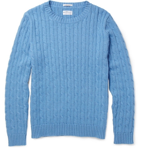Gant Rugger Cable-Knit Cotton Sweater
