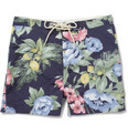 Gant Rugger Short-Length Floral-Print Swim Shorts