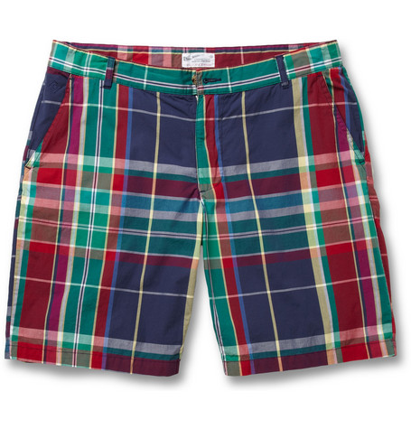Gant Rugger Madras-Check Cotton Shorts