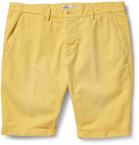 Gant Rugger Straight-Leg Cotton and Linen-Blend Chino Shorts