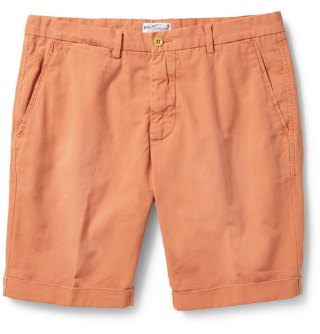 Gant Rugger Straight-Leg Cotton and Linen-Blend Shorts