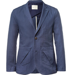 Folk Blue Vincent Cotton-Blend Suit Jacket