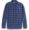 Folk - Pin Dot and Check Cotton Shirt