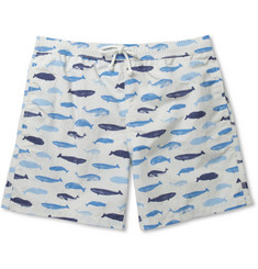 Hartford Whale-Print Mid-Length Swim Shorts