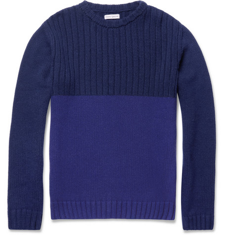 Oliver Spencer Ribbed Crew Neck Sweater