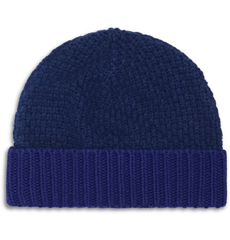 Oliver Spencer Basket-Weave Beanie Hat