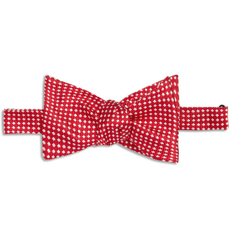 Turnbull & Asser Patterned Silk Bow Tie