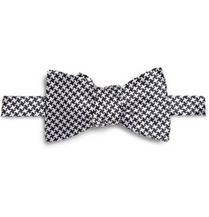 Turnbull & Asser Houndstooth Check Silk Bow Tie