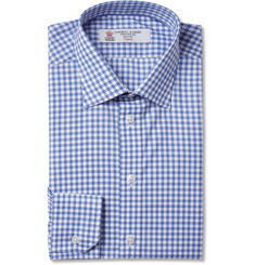 Turnbull & Asser Blue Slim-Fit Check Cotton Shirt