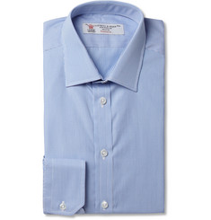 Turnbull & Asser Blue and White Slim-Fit Fine-Stripe Cotton Shirt