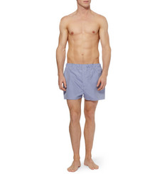 Turnbull & Asser Gingham Check Cotton Boxer Shorts