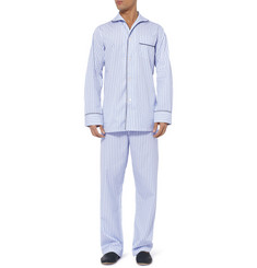 Turnbull & Asser Striped Cotton Pyjama Set