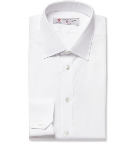 Turnbull & Asser White Slim-Fit Cotton Shirt