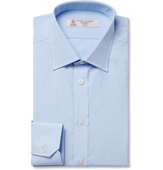 Turnbull & Asser Light Blue Slim-Fit Cotton Shirt