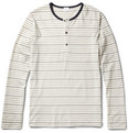 Sunspel - Striped Cotton-Jersey Henley T-Shirt
