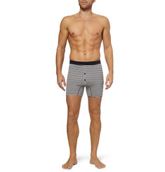 Sunspel Striped Cotton-Jersey Boxer Briefs