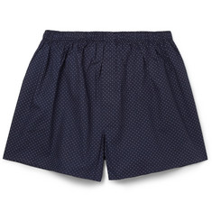 Sunspel Swiss-Dot Cotton Boxer Shorts