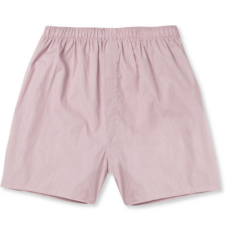 Sunspel Fine-Stripe Cotton Boxer Shorts