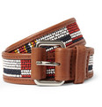 WANT LES ESSENTIELS - Galeao Fabric and Leather Belt