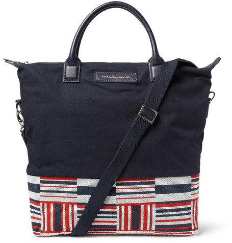 WANT Les Essentiels de la Vie O'Hare Leather-Trimmed Canvas Tote Bag