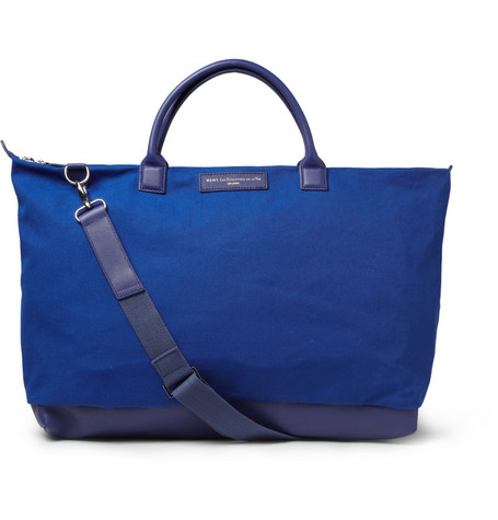 WANT Les Essentiels de la Vie Hartsfield Leather and Organic Cotton-Canvas Holdall Bag