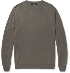 Slowear Zanone Wool-Blend Crew Neck Sweater