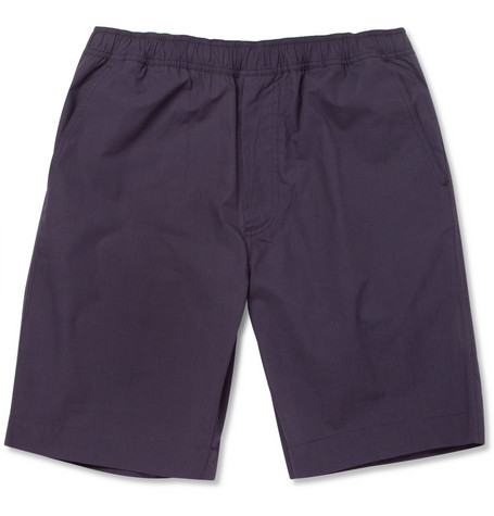 Our Legacy Navy Cotton Suit Shorts
