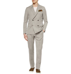 Our Legacy Grey Check Wool Suit Trousers