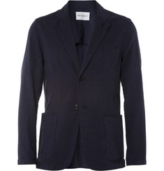 Our Legacy Navy Unstructured Cotton Suit Jacket