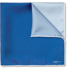 Lanvin Check Silk Pocket Square