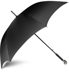 Alexander McQueen Silver Skull Handle Umbrella