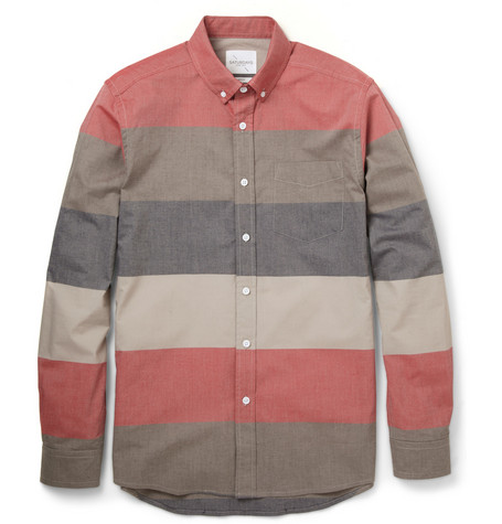 Saturdays Surf NYC Crosby Slim-Fit Striped Cotton-Poplin Shirt