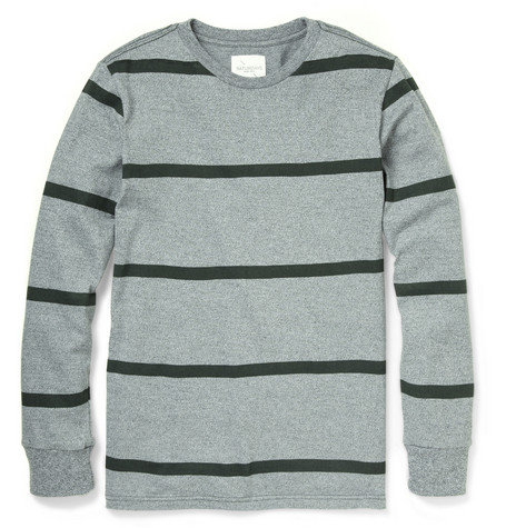 Saturdays Surf NYC James Striped Cotton Sweatshirt
