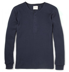 Saturdays Surf NYC Mitch Long-Sleeved Cotton Henley T-Shirt