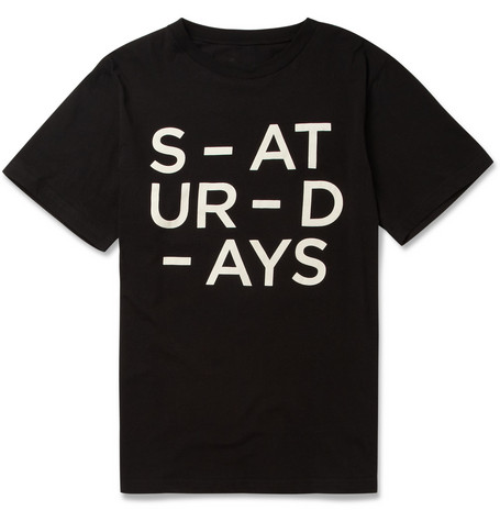 Saturdays Surf NYC Broken Printed Cotton-Jersey T-Shirt